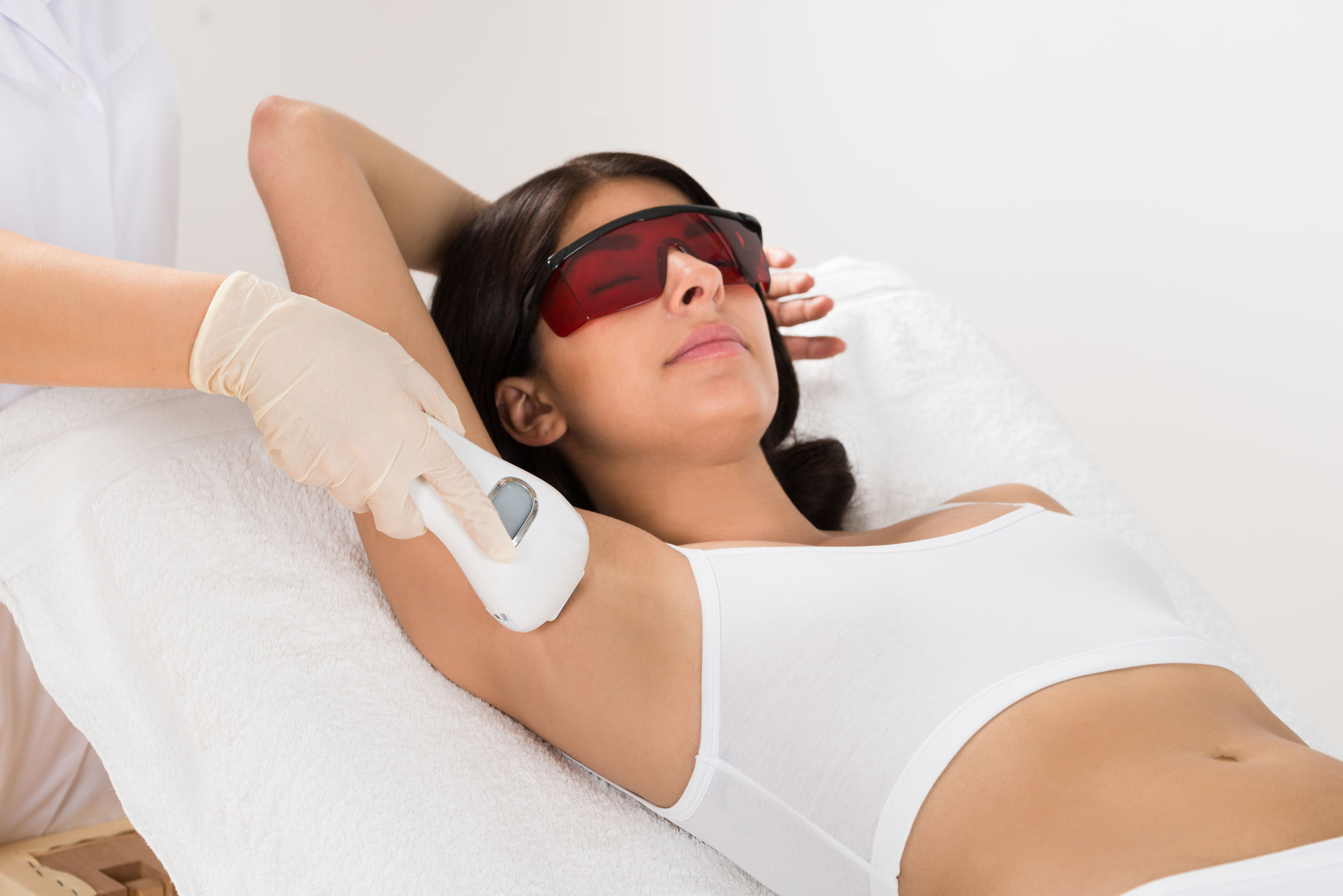 laser hair removal treatment woman photo